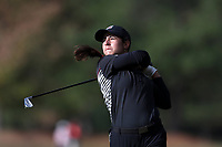 CHAPEL HILL, NC - OCTOBER 13: Ana Pelaez of the University of South Carolina tees off at UNC Finley Golf Course on October 13, 2019 in Chapel Hill, North Carolina.
