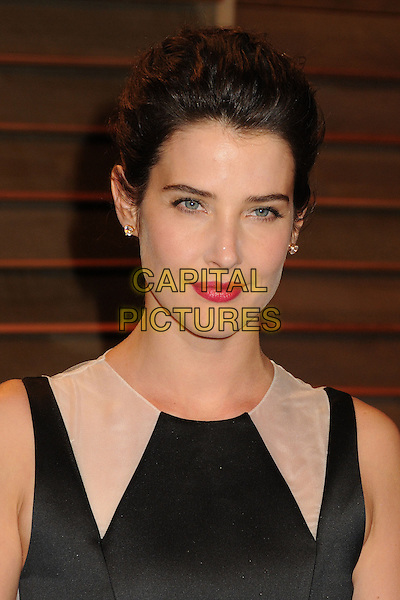 02 March 2014 - West Hollywood, California - Cobie Smulders. 2014 Vanity Fair Oscar Party following the 86th Academy Awards held at Sunset Plaza.  <br /> CAP/ADM/BP<br /> &copy;Byron Purvis/AdMedia/Capital Pictures
