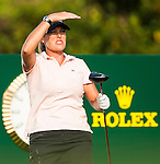 TAOYUAN, TAIWAN - OCTOBER 26:  Cristie Kerr of USA tees off on the 17th hole during the day two of the Sunrise LPGA Taiwan Championship at the Sunrise Golf Course on October 26, 2012 in Taoyuan, Taiwan. Photo by Victor Fraile / The Power of Sport Images