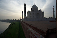 Early morning at the Taj Mahal Agra, India