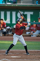 Matt Morales (2) of the Idaho Falls Chukars bats against the Ogden Raptors at Lindquist Field on August 28, 2017 in Ogden, Utah. Ogden defeated Idaho Falls 7-1. (Stephen Smith/Four Seam Images)