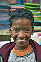 Portrait of young Egyptian boy at bazaar in Luxor, Egypt