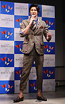 """April 19, 2018, Tokyo, Japan - Japanese actor Mokomichi Hayami attends a promotional event of French Bordeaux wines in Tokyo on Thursday, April 19, 2018. Bordeaux wine bureau C.I.V.B. will have a three-day event """"My Bordeaux Party"""" to provide 100 selected brands Bordeaux wines with 300yen for a glass at a pop-up bar from April 20.  (Photo by Yoshio Tsunoda/AFLO) LWX -ytd-"""