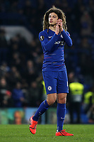Ethan Ampadu of Chelsea applauds the home fans at the end of the match during Chelsea vs Malmo FF, UEFA Europa League Football at Stamford Bridge on 21st February 2019
