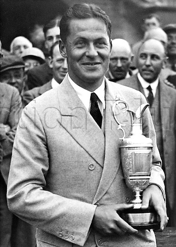 June 1930. Wirral, Merseyside, England. Bobby Jones wins the British Open at  Hoylake June 1930.....
