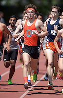 Apr 11, 2015; Los Angeles, CA, USA; Colin Smith of Occidental College wins the 1,500m in 4:06.56 in a SCIAC multi dual meet at Occidental College. Photo by Kirby Lee