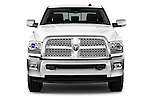 Car photography straight front view of a 2015 Ram 2500 Laramie Mega Cab 4 Door Truck Front View