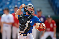 Hudson White (13) of Byron Nelson High School in Fort Worth, TX during the Perfect Game National Showcase at Hoover Metropolitan Stadium on June 19, 2020 in Hoover, Alabama. (Mike Janes/Four Seam Images)