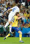 Sotirios Kyrgiakos and Markus Rosenberg at Euro 2008. Greece-Sweden 06102008, Salzburg, Austria