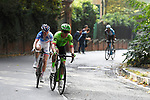 Rigoberto Uran (COL) Cannondale Drapac attacks on the final climb during the 98th edition of Milano-Torino 2017, running 186km from San Giuliano Milanese (Sesto Ulteriano) to the Basilica at Superga, above the city of Turin, Italy. 5th October 2017.<br /> Picture: LaPresse/Fabio Ferrari | Cyclefile<br /> <br /> <br /> All photos usage must carry mandatory copyright credit (&copy; Cyclefile | LaPresse/Fabio Ferrari)
