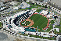 aerial photograph Raley Field stadium Sacramento, California
