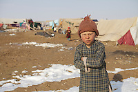 Young boy at Qalin Bafan Returnee Site, North Afghanistan