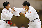 (L-R) Erina Ike, Utane Sugiyama, September 14, 2014 - Judo : All Japan Junior Judo Championships Women's -70kg Final at Saitama Prefectural Budokan, Saitama, Japan. (Photo by Yusuke Nakanishi/AFLO SPORT) [1090]