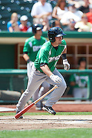 Dayton Dragons outfielder Spencer Dickinson #8 during a Midwest League game against the Fort Wayne TinCaps at Parkview Field on August 19, 2012 in Fort Wayne, Indiana.  Dayton defeated Fort Wayne 5-1.  (Mike Janes/Four Seam Images)