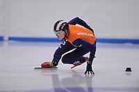 SCHAATSEN: LEEUWARDEN: 08-10-2015, Elfstedenhal, shorttrack Time Trial, Adwin Snellink, ©foto Martin de Jong