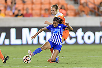 Houston, TX - Saturday July 22, 2017: Margaret Purce and Cami Privett during a regular season National Women's Soccer League (NWSL) match between the Houston Dash and the Boston Breakers at BBVA Compass Stadium.