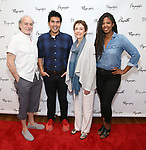 Peter Friedman, Pun Bandhu, Deanna Dunagan and Marinda Anderson during the first day of rehearsals for the Playwrights Horizons production of 'The Treasurer' on August 1, 2017 at the Playwrights rehearsal studio in New York City.