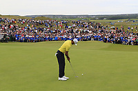 Rafa Cabrera-Bello (ESP) putts on the 18th green during Sunday's Final Round of the Dubai Duty Free Irish Open 2019, held at Lahinch Golf Club, Lahinch, Ireland. 7th July 2019.<br /> Picture: Eoin Clarke | Golffile<br /> <br /> <br /> All photos usage must carry mandatory copyright credit (© Golffile | Eoin Clarke)