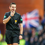 01.02.2020 Rangers v Aberdeen: Referee Andrew Dallas