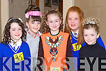 JIG: Dancing their jigs in the 14th Annaul Causeway Feis at Causeway Comprehensive Secondry School, on Sunday L-r: Leanne Barrett and Valerie Kiely (Causeway), Claudia Healy and Mary Ann White (Ballyduff) and Sarah Cantillon(Ballyheigue)................... . ............................... ..........