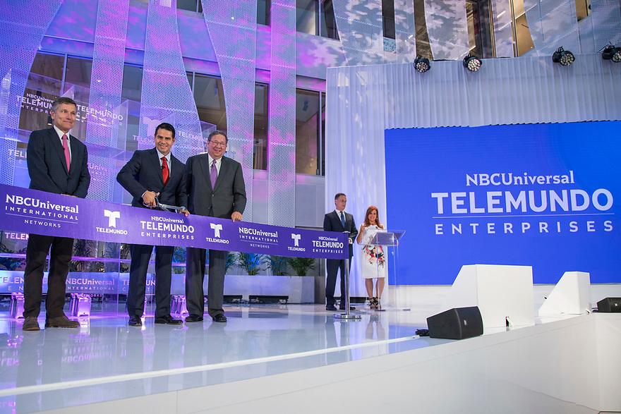 Today, NBCUniversal Telemundo Enterprises celebrated the official inauguration of Telemundo Center, its new state-of-the-art global headquarters on Monday, April 9, 2018, in Miami, Fla. (Jesus Aranguren/Telemundo via AP Images)