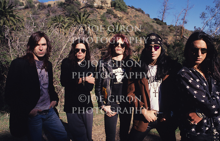 Portraits & live photographs of the band, Bang Tango.
