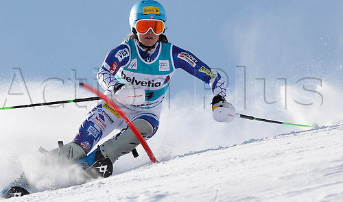 29.01.2012.  Ski Alpine FIS WC St Moritz Super Combination women  Ski Alpine FIS World Cup Super combination for women Slalom Picture shows Juliet Mancuso USA