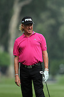Miguel Angel Jimenez (ESP) on the 5th during Round 2 of the UBS Hong Kong Open 2012, Hong Kong Golf Club, Fanling, Hong Kong. 16/11/12...(Photo Jenny Matthews/www.golffile.ie)