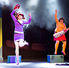 Scooby-Doo! Live Musical Mysteries <br /> at The Palladium, London, Great Britain <br /> press photocall <br /> 17th August 2016 <br /> <br /> Rebecca Withers as Velma<br /> Charlie Bull as Daphne <br /> <br /> <br /> <br /> <br /> Photograph by Elliott Franks <br /> Image licensed to Elliott Franks Photography Services