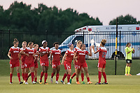 Boyds, MD - Saturday June 03, 2017: Mallory Pugh, Estelle Johnson, goal celebration during a regular season National Women's Soccer League (NWSL) match between the Washington Spirit and Houston Dash at Maureen Hendricks Field, Maryland SoccerPlex.