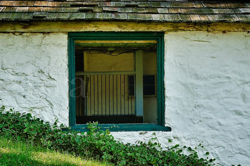 Rustic stable window detail.