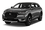 2019 Ds DS-7-Crossback Performance-Line 5 Door SUV Angular Front stock photos of front three quarter view