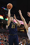 CHARLOTTESVILLE, VA - MARCH 03: Notre Dame's Martinas Geben (LTU). The University of Virginia Cavaliers hosted the University of Notre Dame Fighting Irish on March 3, 2018 at John Paul Jones Arena in Charlottesville, VA in a Division I men's college basketball game. Virginia won the game 62-57.