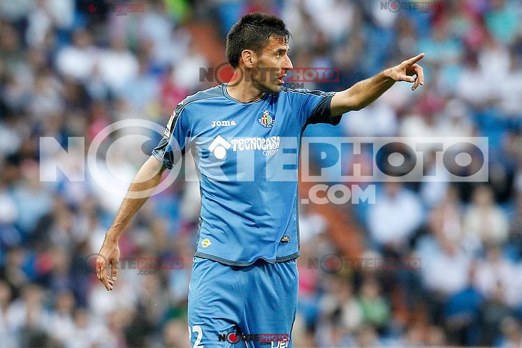Getafe's Juan Rodriguez during La Liga match. May 23,2015. (ALTERPHOTOS/Acero) /NortePhoto.com