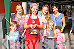 Noreen, Nathan, Rebecca Coffey, Angie Healy Cronin, Saouirse and Fíadhna Healy Cronin waitong for some Crepes from Fiona MCDonald all Killorglin at the Flavour of Killorglin on Sunday
