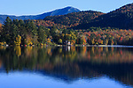 Lake Placid in the Adirondack Mountains during autumn, Upstate New York, USA