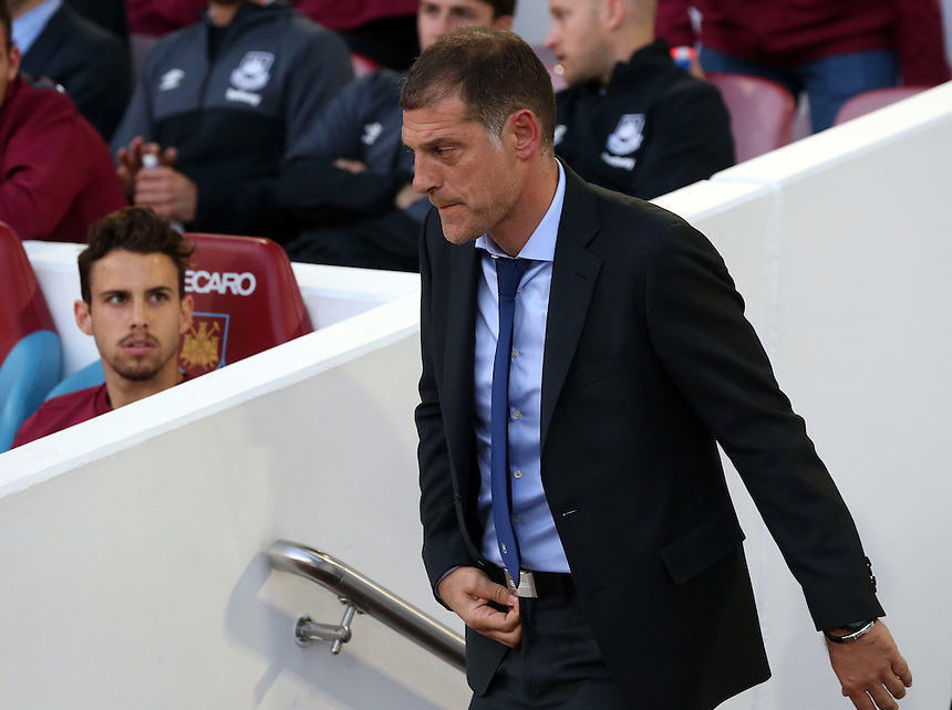 West Ham United manager Slaven Bilic<br /> <br /> Photographer Kieran Galvin/CameraSport<br /> <br /> Football - UEFA Europa League Qualifying Third Round First Leg - West Ham United v Astra Giurgiu - Thursday 30 July 2015 - Boleyn Ground - London<br /> <br /> &copy; CameraSport - 43 Linden Ave. Countesthorpe. Leicester. England. LE8 5PG - Tel: +44 (0) 116 277 4147 - admin@camerasport.com - www.camerasport.com