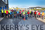 Cyclists at the start of the Tour of South Kerry Cycle in aid of Sive Rowing Club on Sunday morning.