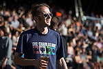 "© Joel Goodman - 07973 332324 . 04/07/2015 . Manchester , UK . A Charlatans fan in the crowd . Fans at the Castlefield Bowl as part of the "" Summer in the City "" festival in Manchester. Photo credit : Joel Goodman"