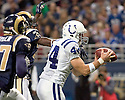 October 25, 2009 - St Louis, Missouri, USA - Colts tight end Dallas Clark (44) catches a touchdown pass in the game between the St Louis Rams and the Indianapolis Colts at the Edward Jones Dome.  The Colts defeated the Rams 42 to 6.  .