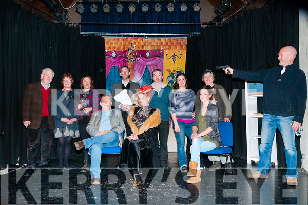 "Play On: The cast of the E J Morean Drama Group, Kenmare who performed the Rick Abbott play ""Play On"" at St. John's Arts Centre, Listowel on Saturday night last. Included in the cast are Antoinett Galvin, Rosemary Purcell, Maire De Cogain, Mike Brosnan, James Burgess, Jennifer Fitzgerald, Art Kavanagh, Naoimi Doyle, Terry Boosey & Meghan Kestler-Tobias."