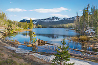 """Blue Blue Sylvan Lake""  Yellowstone National Park  Sylvan Lake | Recently thawed Sylvan Lake reflects the blue evening sky in Yellowstone National Park on Monday, June 9, 2014 | Signature Edition Print by Greg Dixon | HDR Image: Stack of 3 Digital Photographs"