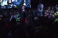 BOGOTA - COLOMBIA, 27-05-2018: Discurso de agradecimiento por parte de Claudia López a los seguidores de Sergio Fajardo. Las elecciones presidenciales de Colombia de 2018 se celebrarán el domingo 27 de mayo de 2018. El candidato ganador gobernará por un periodo máximo de 4 años fijado entre el 7 de agosto de 2018 y el 7 de agosto de 2022. / thanks speech by Claudia Lopez to Sergio Fajardo followers. Colombia's 2018 presidential election will be held on Sunday, May 27, 2018. The winning candidate will govern for a maximum period of 4 years fixed between August 7, 2018 and August 7, 2022. Photo: VizzorImage / Nicolas Aleman / Cont