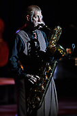 CORAL SPRINGS FL - OCTOBER 19: Andy Rowley of Big Bad Voodoo Daddy performs at Coral Springs Center for the Arts on October 19, 2017 in Coral Springs, Florida. Photo by Larry Marano © 2017