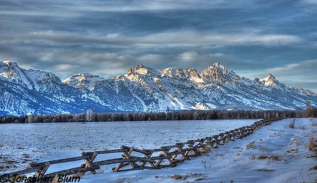 The Teton Range as seen from Spring Gulch Road, Jackson, Wyoming/HDR