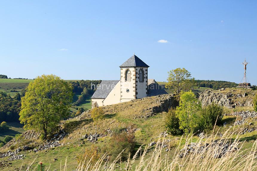 France, Cantal (15), Ségur-les-Villas, chapelle Valentine // France, Cantal, Segur les Villas, chapel Valentine