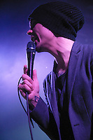 Ville Valo, with Finnish 'Love Metal' band HIM, (His Infernal Majesty) play to a near capacity crowd at the Commodore Ballroom in Vancouver, April 16th, 2010.  (Scott Alexander/PressPhotointl.com)