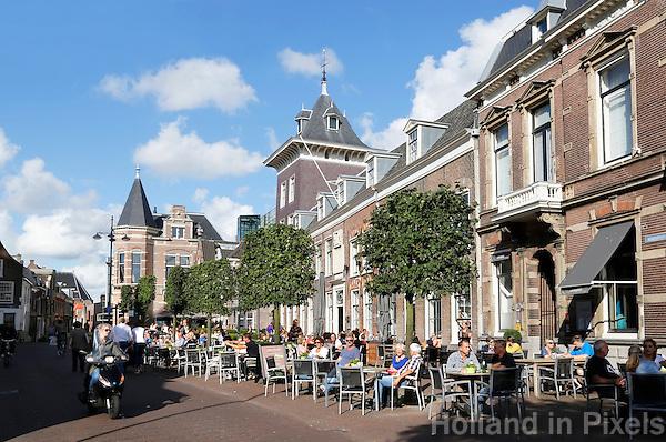 Nederland Haarlem 2015 . Terras in het centrum van Haarlem