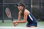 April 25, 2014; San Diego, CA, USA; Pepperdine Waves player Yuki Chiang during the WCC Tennis Championships at Barnes Tennis Center.
