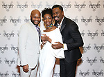 Forrest McClendon, Sharon Washington and Colman Domingo attends the Vineyard Theatre Gala honoring Colman Domingo at the Edison Ballroom on May 06, 2019 in New York City.